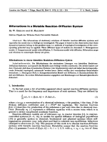 Bifurcations in a Bistable Reaction-Diffusion System.