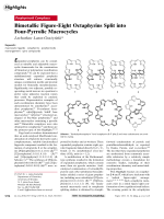 Bimetallic Figure-Eight Octaphyrins Split into Four-Pyrrolic Macrocycles.