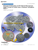 Bioinspired Fabrication of 3D Ordered Macroporous Single Crystals of Calcite from a Transient Amorphous Phase.