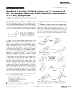 Biomimetic Synthesis of 5 6-dihydro-glaucogeninC  Construction of the Disecopregnane Skeleton by Iron(II)-Promoted Fragmentation of an -Alkoxy Hydroperoxide.