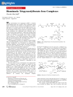 Biomimetic Trispyrazolylborato Iron Complexes.