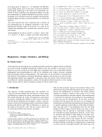 Biopolymers  Origin  Chemistry  and Biology.