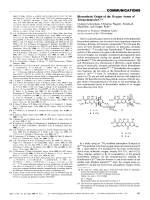 Biosynthetic Origin of the Oxygen Atoms of Tetracenomycin C.