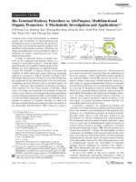 Bis-Terminal Hydroxy Polyethers as All-Purpose  Multifunctional Organic Promoters  A Mechanistic Investigation and Applications.