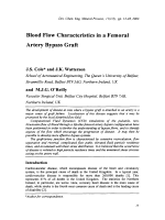 Blood Flow Characteristics in a Femoral Artery Bypass Graft.