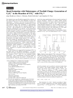 Bond Formation with Maintenance of Twofold Charge  Generation of C2O32+ in the Reaction of CO22+ with CO2.