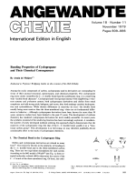 Bonding Properties of Cyclopropane and Their Chemical Consequences.