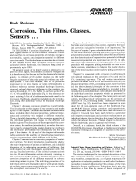Book Review  Corrosion  Thin Films  Glasses  Sensors Е  DECHEMA Corrosion Handbook  Vol. 3. Edited by D
