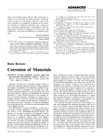 Book Review  Corrosion of Materials  DECHEMA Corrosion Handbook  Corrosive Agents and their Interaction with Materials  Volume 1. Edited by D