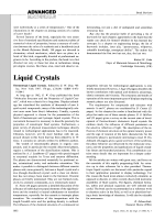 Book Review  Liquid Crystals  Thermotropic Liquid Crystals. Edited by G. W. Gray