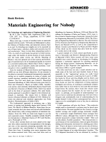 Book Review  Materials Engineering for Nobody  The Technology and Applications of Engineering Materials. By M. S. Ray