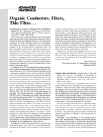 Book Review  Organic Conductors  Fibers  Thin Films Е  One-Dimensional Conductors. (Springer Series in Solid State Science 72.) By S. Kagoshima  H. Nagasawa and T