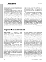 Book Review  Polymer Characterization  Polymer Microscopy. By L. C. Sawyer and D. T. Grubb