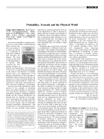 Book Review  Probability  Fractals and the Physical World  Chaos and Complexity. By B