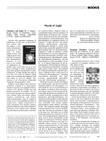 Book Review  World of Light  Chemistry and Light. By P. Suppan