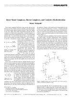 Boryl Metal Complexes  Boron Complexes  and Catalytic (Hydro)boration.