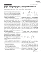 Borylene Transfer under Thermal Conditions for the Synthesis of Rhodium and Iridium Borylene Complexes.
