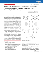Bridging the Gap between Coordination and Cluster Compounds  Unusual Bonding Modes for Zinc.