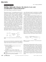 Building Addressable Libraries  Site-Selective Lewis Acid (Scandium(III)) Catalyzed Reactions.