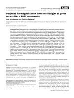 Butyltins biomagnification from macroalgae to green sea urchin  a field assessment.