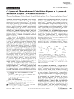 C1-Symmetric Monosubstituted Chiral Diene Ligands in Asymmetric Rhodium-Catalyzed 1 4-Addition Reactions.