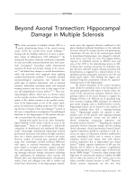 Beyond axonal transection  Hippocampal damage in multiple sclerosis.