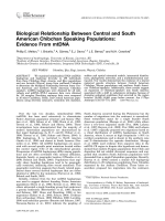 Biological relationship between central and South American Chibchan speaking populations  Evidence from mtDNA.