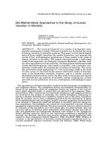 Bio-mathematical approaches to the study of human variation in mortality.