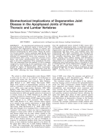 Biomechanical implications of degenerative joint disease in the apophyseal joints of human thoracic and lumbar vertebrae.