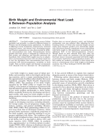 Birth weight and environmental heat load  A between-population analysis.