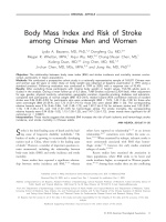 Body mass index and risk of stroke among Chinese men and women.