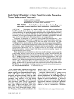 Body weight prediction in early fossil hominids  Towards a taxon-УindependentФ approach.