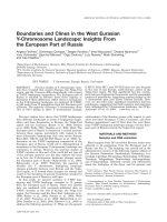 Boundaries and clines in the West Eurasian Y-chromosome landscape  Insights from the European part of Russia.