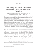 Brain biopsy in children with primary small-vessel central nervous system vasculitis.