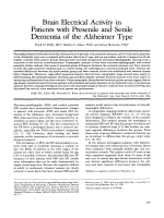 Brain electrical activity in patients with presenile and senile dementia of the Alzheimer type.