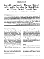 Brain electrical activity mapping (BEAM)  A method for extending the clinical utility of EEG and evoked potential data.