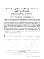 BrainЦcomputer interfacing based on cognitive control.