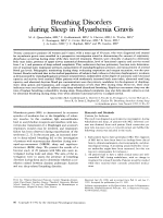 Breathing disorders during sleep in myasthenia gravis.
