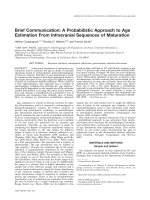Brief communication  A probabilistic approach to age estimation from infracranial sequences of maturation.