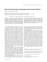 Brief communication  Evaluating grandmother effects.
