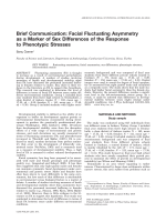 Brief communication  Facial fluctuating asymmetry as a marker of sex differences of the response to phenotypic stresses.