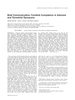 Brief communication  Forelimb compliance in arboreal and terrestrial opossums.