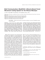 Brief communication  MaqFACS  A muscle-based facial movement coding system for the rhesus macaque.