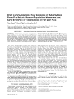 Brief communication  New evidence of tuberculosis from prehistoric KoreaЧPopulation movement and early evidence of tuberculosis in far East Asia.
