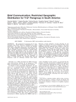 Brief communication  Restricted geographic distribution for Y-Q.21133.pdf paragroup in South America