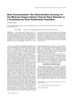 Brief communication  Sex determination accuracy of the minimum supero-inferior femoral neck diameter in a contemporary rural Guatemalan population.
