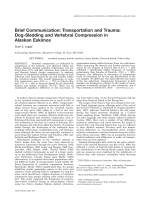 Brief communication  Transportation and trauma  Dog-sledding and vertebral compression in Alaskan Eskimos.