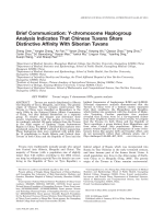 Brief communication  Y-chromosome haplogroup analysis indicates that Chinese Tuvans share distinctive affinity with Siberian Tuvans.