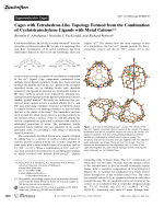 Cages with Tetrahedron-Like Topology Formed from the Combination of Cyclotricatechylene Ligands with Metal Cations.