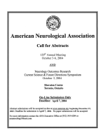 Call for Abstracts  American Neurological Association.
